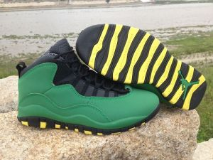 Nike Air jordan 10 Oregon Ducks Green Mens Shoes